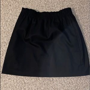 J Crew Wool Blend Black Skirt